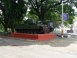 Vijayanta MBT taken outside the Indian National War Memorial (Maharashtra).