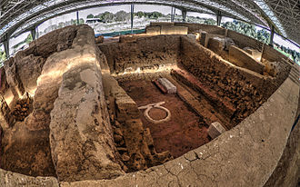 Cancho Roano - Interior of the archaeological site