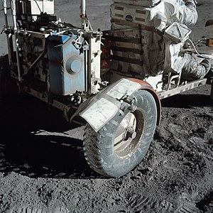 Duct tape - Improvised wheel fender extension with duct tape, Apollo 17