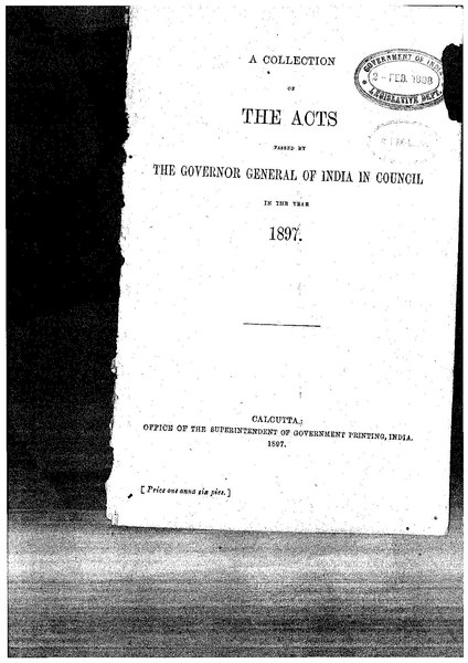 File:A Collection of the Acts passed by the Governor General of India in Council, 1897.pdf