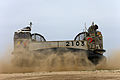A Japanese Self-Defense Force landing craft, air cushion lands on Red Beach at Marine Corps Base Camp Pendleton, Calif., May 31, 2013, as part of the initial offload for exercise Dawn Blitz 2013 130531-M-QH793-038.jpg
