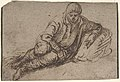 A Reclining Peasant (recto); Study of a Young Man (verso) MET DP801215.jpg