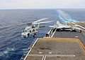 A Sea Hawk helicopter takes off from USS Ronald Reagan. (8718547262).jpg