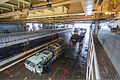 A U.S. Navy landing craft utility enters the well deck of the amphibious dock landing ship USS Gunston Hall (LSD 44) in the Atlantic Ocean Dec. 7, 2013 131207-N-XJ695-327.jpg