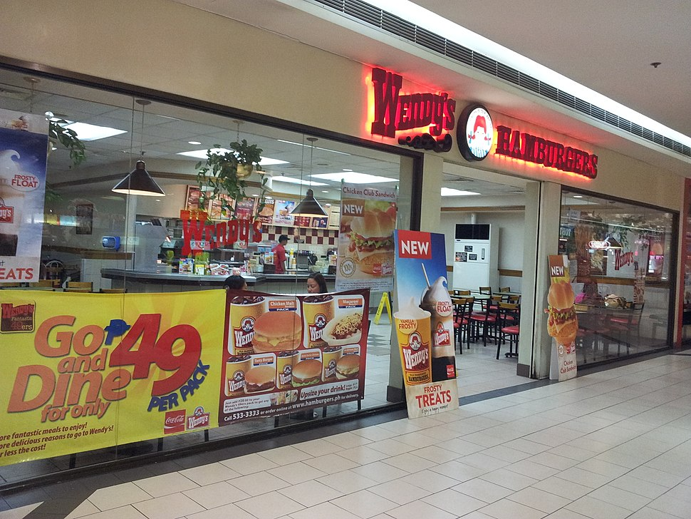 A Wendy's Hamburgers outlet in Manila, Philippines