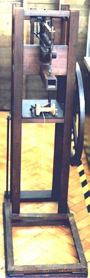 Barthélemy Thimonnier - A copy of Barthélemy Thimonnier's sewing machine from about 1830.