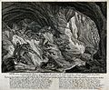 A group of linx with their kitten in a cave in the mountains Wellcome V0021003.jpg