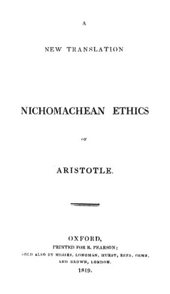 File:A new translation of the Nichomachean ethics.djvu