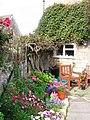 A quiet corner of a Cotswold garden in Winchcombe - geograph.org.uk - 823365.jpg