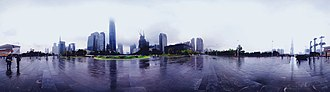 Tianhe District - Image: A rainy day in Tianhe District, Guangzhou, China
