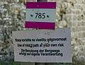 A signpost in Stari Bar, Primorska Planinarska Transverzala, Montenegro 02.jpg