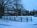 A snowy scene by the flats in Old Wymering Lane - geograph.org.uk - 1146217.jpg