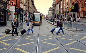Abbey Street - LUAS on Abbey Street