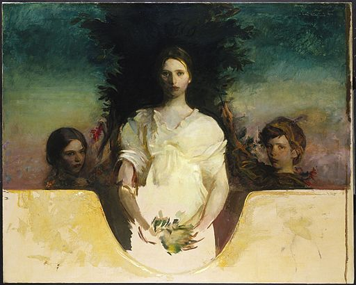 Abbott H. Thayer - My Children - Google Art Project