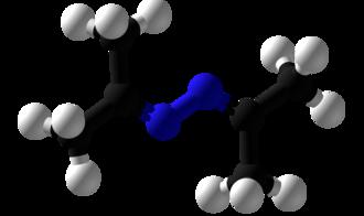 Acetone azine - Image: Acetone azine Ball and Stick