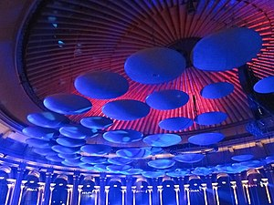 Audio engineer - Acoustic diffusing mushrooms hanging from the roof of the Royal Albert Hall.