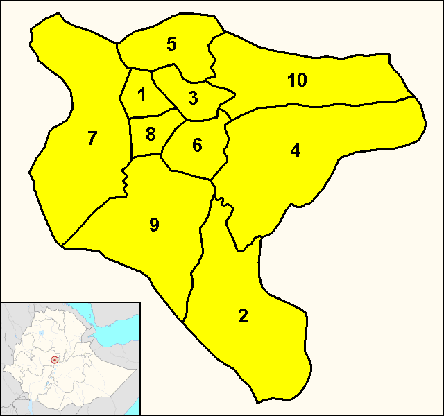 Addis Ababa (district map)