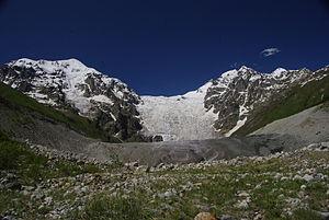 Adishi Glacier - Image: Adishi Glacier
