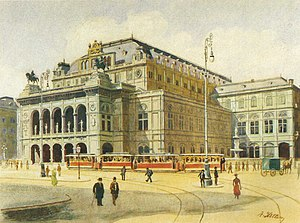 Paintings by Adolf Hitler - Vienna State Opera House, Adolf Hitler, 1912