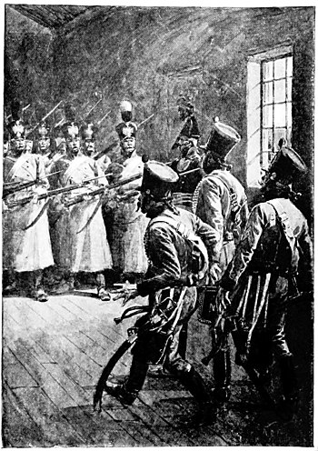 Adventures of Gerard-frontis--in front a triple line of russian grenadiers.jpg