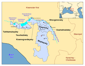 Adygea - Administrative divisions of the Republic of Adygea