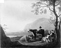 Aelbert Cuyp - Landscape with Three Cows and Shepherds - KMS3626 - Statens Museum for Kunst.jpg
