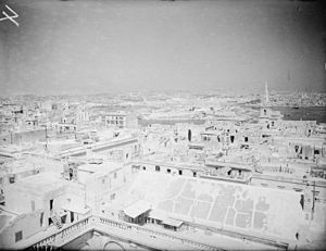 Marsamxett Harbour - Marsamxett seen from Valletta in 1942