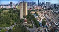 Aerial panorama of Pearl Bank Towers relative to its Outram location.jpg
