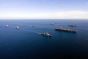 Aerial starboard bow view of United States Navy and Republic of Korea Navy ships in the formation during Exercise Invincible Spirit 100726-6720T-N-086.jpg