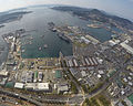 Aerial view of US Fleet Activities Sasebo in March 2016.JPG