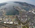 Aerial view of US Fleet Activities Sasebo in March 2016.JPG