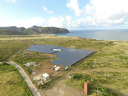 The solar park on Sint Eustatius in 2016