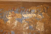 Afrasiab - details from The Ambassadors' Painting 3 - great procession.JPG