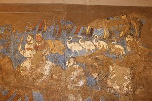 Afrasiab painting - Detail of the Ambassadors' Painting.