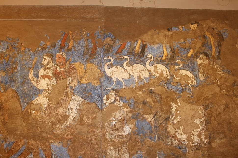 Afrasiab - details from The Ambassadors' Painting 3 - great procession