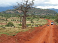 Rural road in Kenya