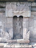 Agastya statue in southern niche of Sambisari temple