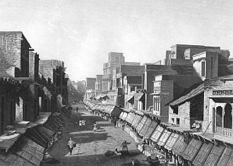 Agra - Agra, Main Street, c. 1858