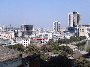 Agrabad - Top view of Agrabad Commercial Area