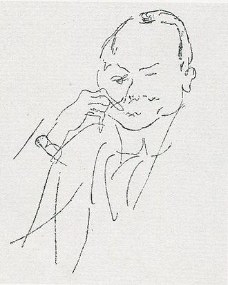 Friedrich Ahlers-Hestermann - Friedrich Ahlers-Hestermann drawn by Federzeichnung von Jules Pascin, 1906.