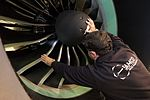 AirBaltic Bombardier CS300 mainenance (32406530093).jpg