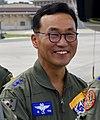 Air Force (ROKAF) Major General Hong Jae-ki 공군소장 홍재기 (US Air Force photo 160921-F-AM292-299 B-1B makes closest flight ever to North Korea).JPG