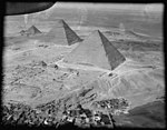 Air views of Palestine. Cairo and the pyramids. Pyramids of Gizeh looking down on the three great pyramids of Egypt LOC matpc.15912.jpg