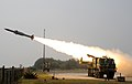 Akash Surface to Air Missile System successfully flight tested at the Integrated Test Range (ITR), Chandipur.jpg