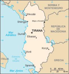 albania mapa Geografía de Albania   Wikipedia, la enciclopedia libre albania mapa