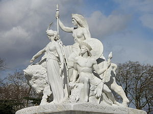 John Bell (sculptor) - Bell's America on the Albert Memorial
