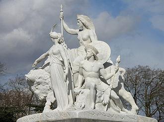 John Bell (sculptor) - Bell's America on the Albert Memorial