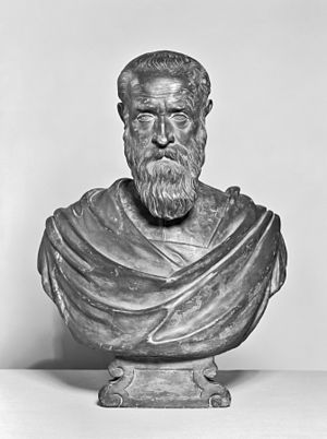 Alessandro Vittoria - Bust of Marino Grimani, after 1599, terracotta with paint (Walters Art Museum)