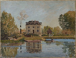 Factory on the Banks of the Seine, Bougival