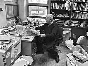 Alistair MacLeod - MacLeod in his university office, 2013